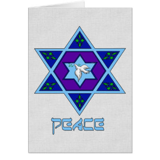 Hanukkah Peace Art Greeting Card