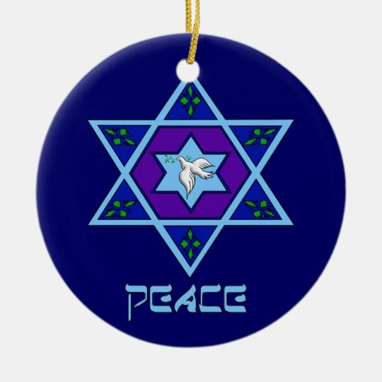 Hanukkah Peace Art Christmas Ornament