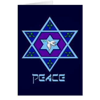 Hanukkah Peace Art Greeting Card