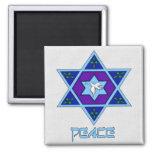 Hanukkah Peace Art Square Magnet