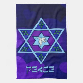 Hanukkah Peace Art Tea Towel