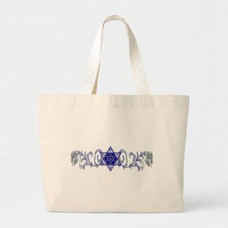 Hanukkah Peace Star Large Tote Bag