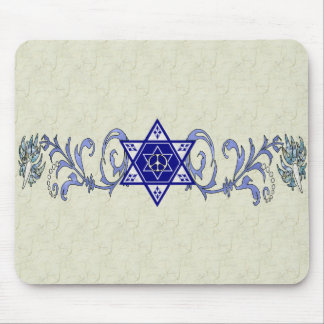 Hanukkah Peace Star Mouse Pad