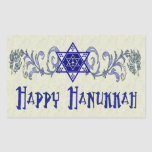 Hanukkah Peace Star Rectangular Sticker