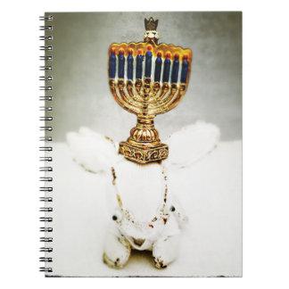 Hanukkah Photo Holiday Greeting Card Spiral Notebook
