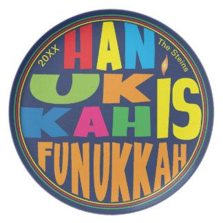 "Hanukkah Plate 10"" Round"