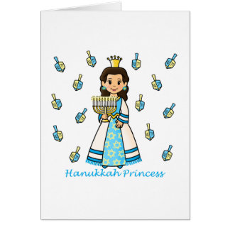 Hanukkah Princess Card