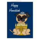 Hanukkah Pug Dog Card