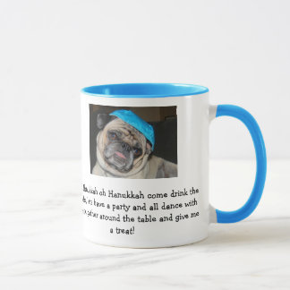 Hanukkah pug mug coffe cup