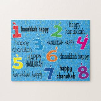 """Hanukkah Puzzle """"Hanukkah Happy"""""""