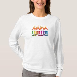 Hanukkah Rainbow Menorah T-Shirt
