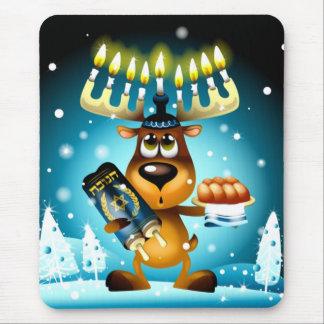 Hanukkah Reindeer Mouse Pad