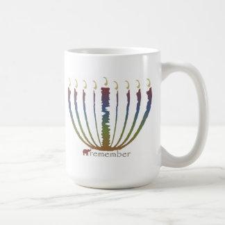 Hanukkah - remember basic white mug