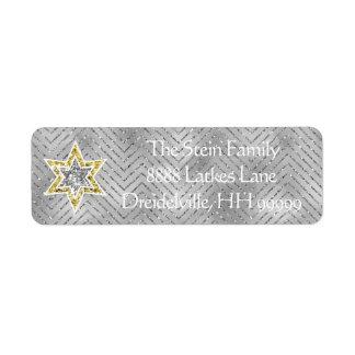 """Hanukkah Return Labels """"Elegant Menorah"""""""