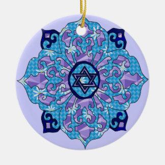 Hanukkah Round Ceramic Decoration