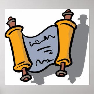 Hanukkah Scroll Poster