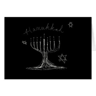 Hanukkah Sketch Card
