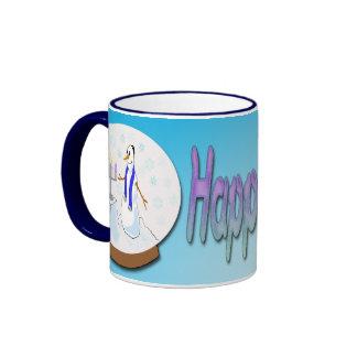 Hanukkah - Snow Globe Snowman Mug