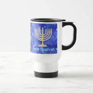 Hanukkah Snowstorm Menorah Mugs
