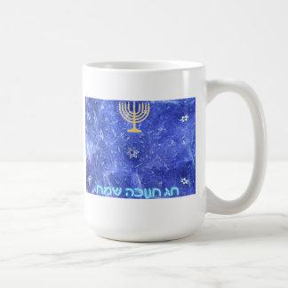 Hanukkah Snowstorm Menorah Coffee Mugs