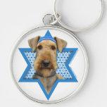 Hanukkah Star of David - Airedale Terrier Keychains