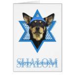 Hanukkah Star of David - Australian Kelpie Note Card
