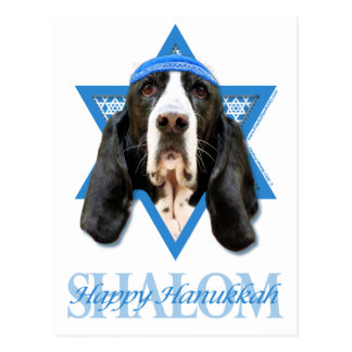Hanukkah Star of David - Basset Hound - Jasmine Postcard