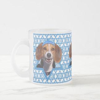 Hanukkah Star of David - Beagle Frosted Glass Mug