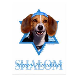 Hanukkah Star of David - Beagle Postcard