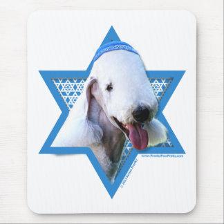 Hanukkah Star of David - Bedlington Terrier Mouse Pads