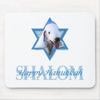 Hanukkah Star of David - Bedlington Terrier Mouse Pad
