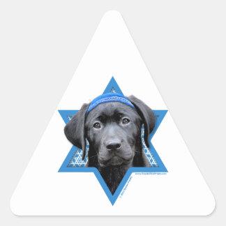 Hanukkah Star of David - Black Labrador Sticker
