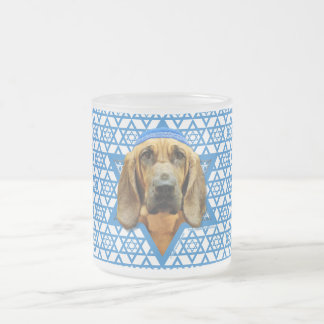 Hanukkah Star of David - Bloodhound Frosted Glass Mug