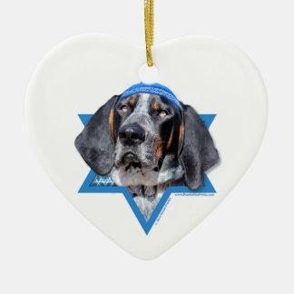 Hanukkah Star of David - Bluetick Coonhound Chuck Christmas Tree Ornament