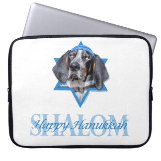 Hanukkah Star of David - Bluetick Coonhound Chuck Laptop Sleeve