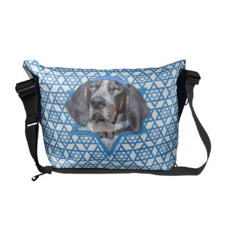 Hanukkah Star of David - Bluetick Coonhound Chuck Courier Bags