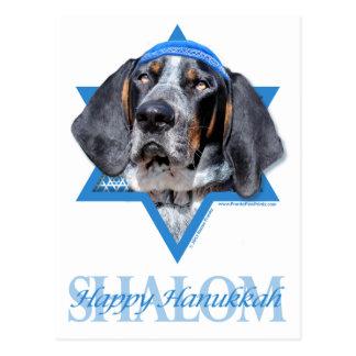 Hanukkah Star of David - Bluetick Coonhound Chuck Postcard