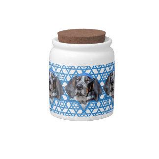 Hanukkah Star of David - Bluetick Coonhound Chuck Candy Dish