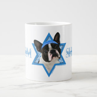 Hanukkah Star of David - Boston Terrier Jumbo Mug