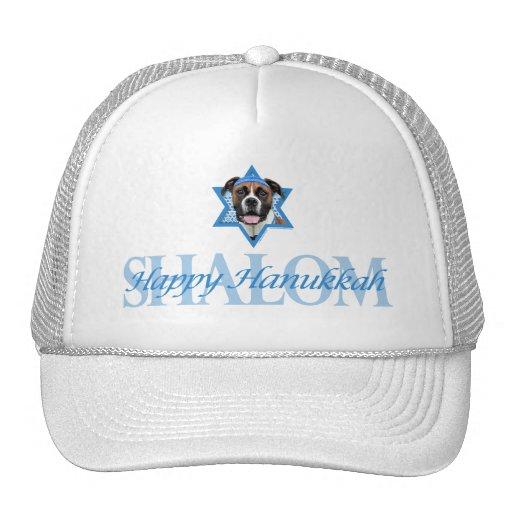 Hanukkah Star of David - Boxer - Vindy Mesh Hat