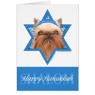 Hanukkah Star of David - Brussels Griffon Note Card