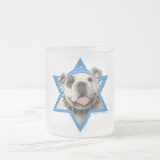 Hanukkah Star of David - Bulldog Frosted Glass Mug