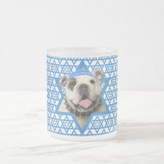 Hanukkah Star of David - Bulldog 10 Oz Frosted Glass Coffee Mug