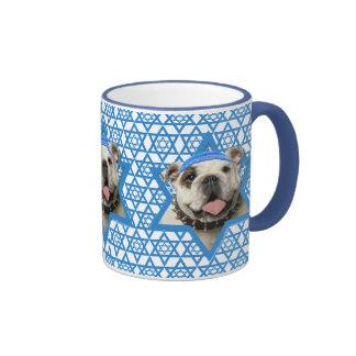 Hanukkah Star of David - Bulldog Ringer Mug
