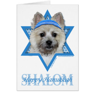 Hanukkah Star of David - Cairn Terrier  Teddy Bear Card