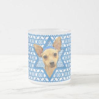 Hanukkah Star of David - Chihuahua 10 Oz Frosted Glass Coffee Mug