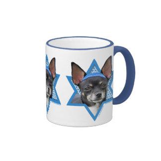 Hanukkah Star of David - Chihuahua Ringer Mug