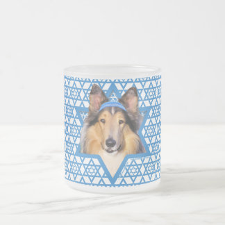 Hanukkah Star of David - Collie Frosted Glass Mug