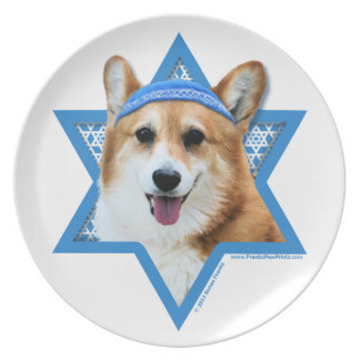 Hanukkah Star of David - Corgi - Owen Party Plates