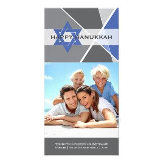 Hanukkah Star Of David Criss Cross Photo Greetings Custom Photo Card
